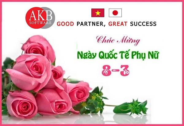 AKB chúc mừng các nhân viên nữ trong công ty nhân ngày 8-3